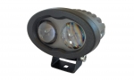 LED Blue Safety Light. 9-110VDC. 4.75˝ L x 3˝ W x 3˝ D